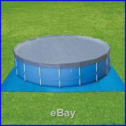 Summer Escapes 15' Metal Frame Pool Set with Deluxe Kit Above Ground Outdoor