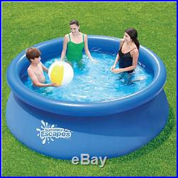 Summer Escapes 8' x 30 Quick-Set Inflatable Round Family Pool