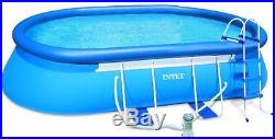 Summer Intex Oval Frame Pool Set, 18' x 10' x 42 Above Ground Swimming Pool New