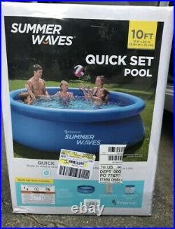 Summer Waves 10ft X 30in Quick Set Ring Pool With 600 GPH Filter Pump-SHIPS FAST