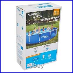 Summer Waves 15ft Active Metal Frame Pool With 600GPH Filter Pump (15x33)