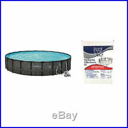 Summer Waves 24' x 52 Above Ground Pool with Sand Pump + Qualco Pool Chemical Kit