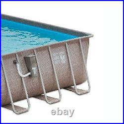 Summer Waves 24ft x 12ft x 52in Rectangle Above Ground Frame Pool Set (Open Box)