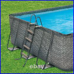 Summer Waves 32ft x 16ft x 52in Above Ground Rectangle Frame Pool Set (Open Box)