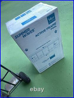 Summer Waves Active Frame 14ft x 36in Above Ground Pools W Pump/Ladder