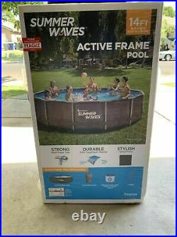 Summer Waves Active Frame 14ft x 36in Above Ground Wicker Metal Frame Pool