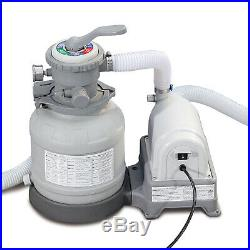 Summer Waves Swimming Pool Sand Filter Pump System GFCI Above Ground Filtration