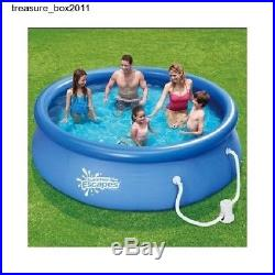 Swimming Pool 10x30 Set Pump Above Ground Filter Frame Metal Summer Escapes