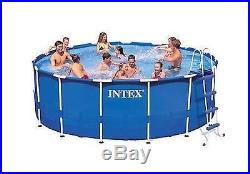 Swimming Pool 15' x 48 Above Ground INTEX Metal Frame Round Easy Filter Pump