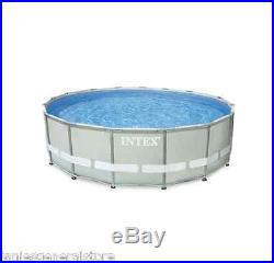 Swimming Pool Above Ground 16' x 48 Intex 1500 Gal Pump Ladder Cloth& Cover New
