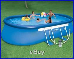 Low price above ground pools blog archive swimming - Intex oval frame pool ...
