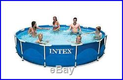 Swimming Pool Intex 12ft X 30in Metal Frame Filter Pump Above Ground Round