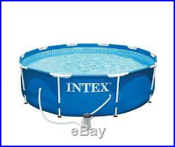Swimming Pool Pools Above Ground Filter Pump Round Metal Frame Adult Size 10x30