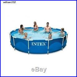 Swimming Pool Round Above Ground Outside Frame Outdoor Backyard 12x30 Gift New