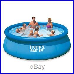Swimming Pool Set Intex Above Ground Metal Frame Round Easy Filter Pump Outdoor