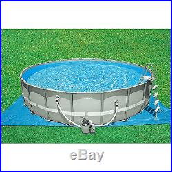 Swimming Pool Set Ultra Frame Filter Pump Above Ground Family Yard Round 20 X 52